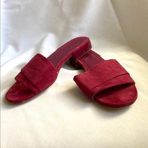 Zara Suede Plum Sandals